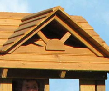 Dormer window fitted onto a wooden roof