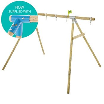 Knightswood swing hanger with snap shackles as standard.  NOW SUPPLIED IN A TEAL COLOUR.