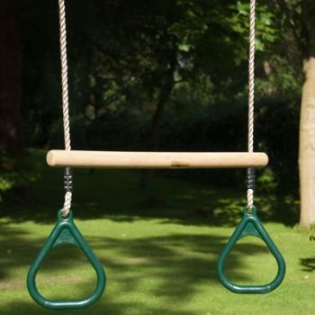 TP Wooden bar and rings - The colour of the green rings have now changed to a brighter lime green colour, the dark green colour is no longer available.