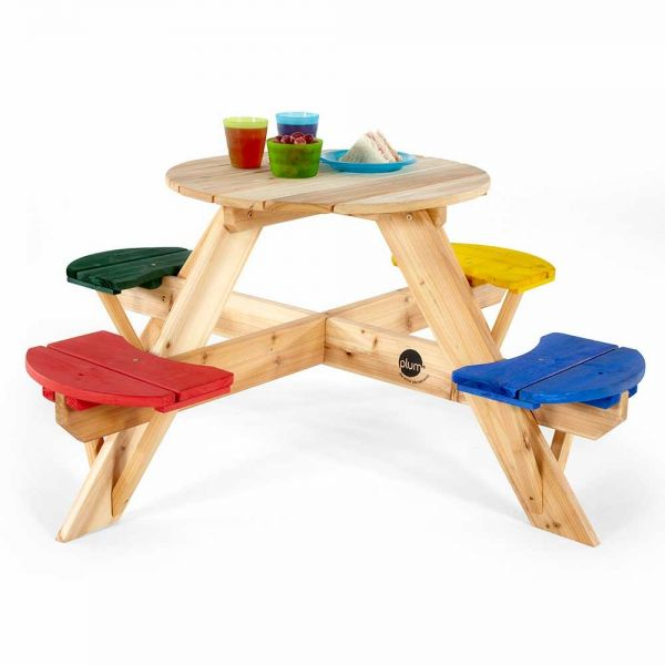 Plum Childrens Round Picnic Table with Seats