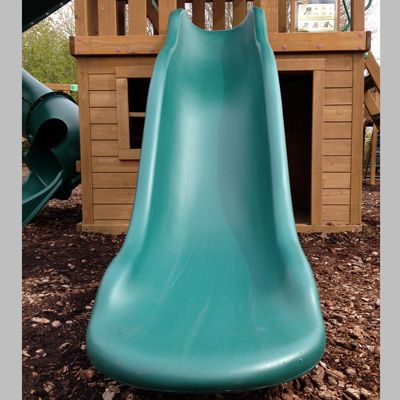 Wider than a standard slide big enough for mums and dads.