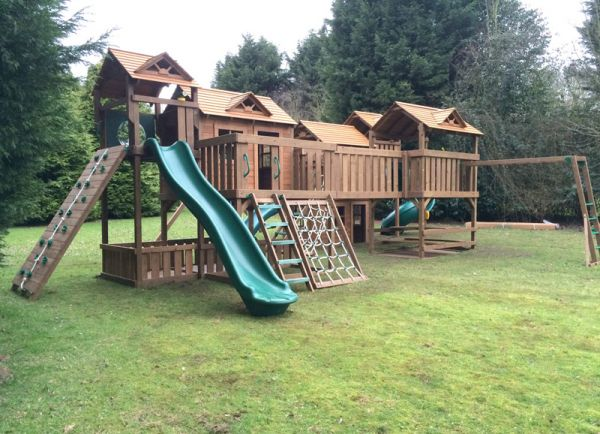 If you have the space, this set has all of the different climbing, swinging and sliding options you would need.