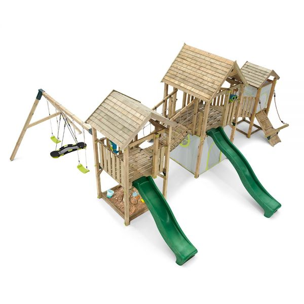 Wildebeest Play set with three towers, two bridge's and a swing section