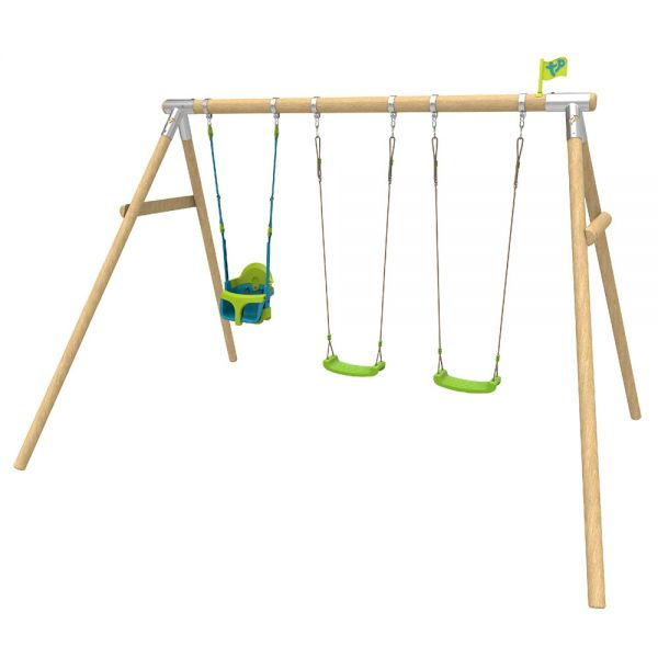 TP Knightswood triple wooden swing frame including the swing seats shown.