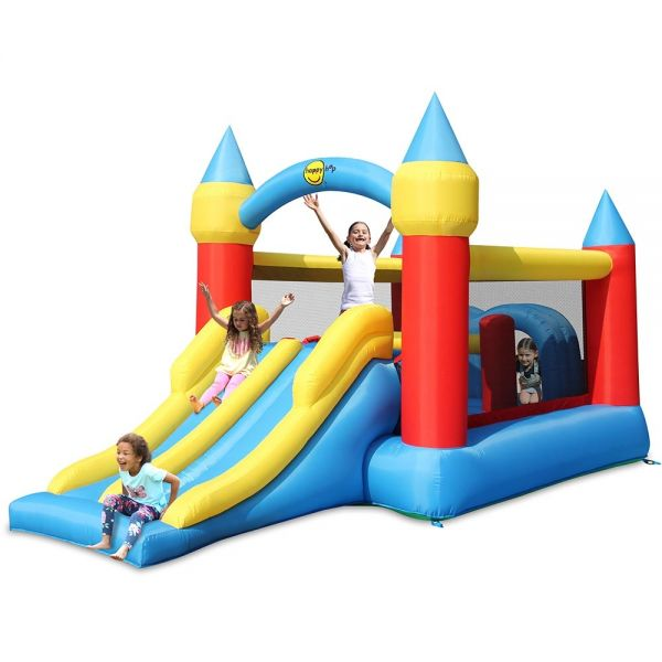 Happy Hop Obstacle Course Bouncer with Double Slide