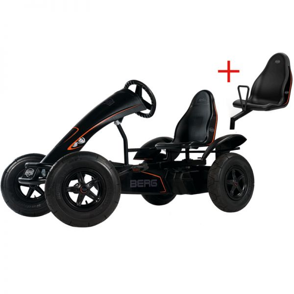 BERG Black Edition with brake free wheel and Swing axle.  Suitable from 5 years to adult.