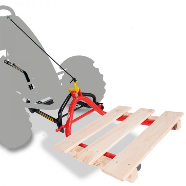 Pallet fork shown on front lift unit that is sold separatley.