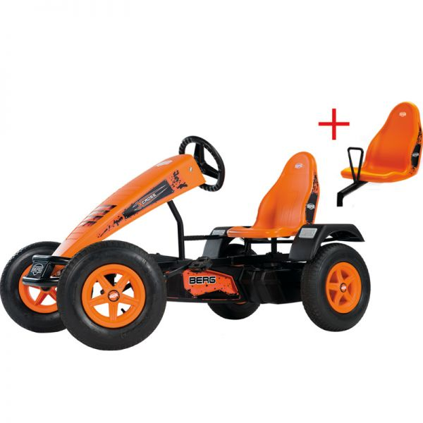 BERG X-Cross with brake free wheel, Swing axle and FREE Passenger seat.  Suitable from 5 years to adult.