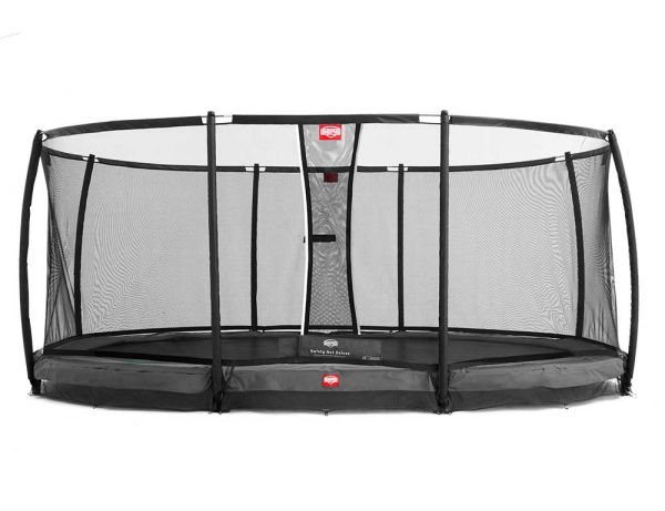"BERG Inground Grand Champion 515cm x 365cm (16ft 9"" x 12ft 6"") with safety net and the new Airflow bed."