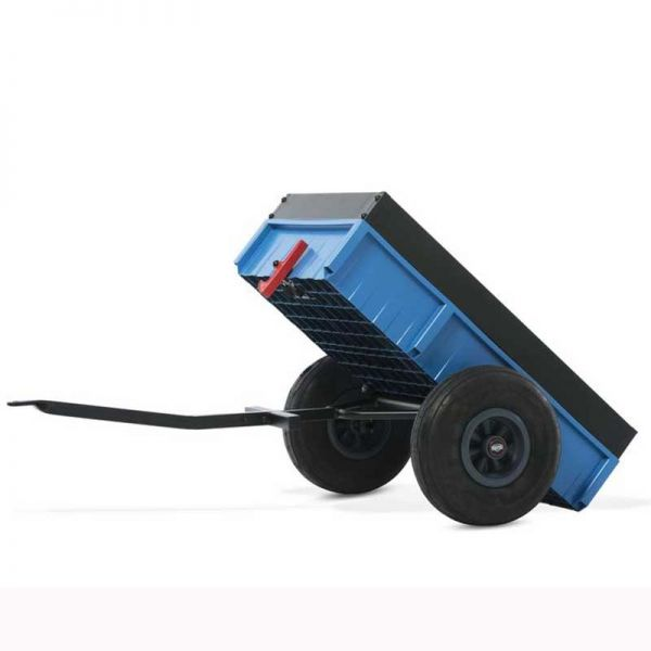 BERG Steel trailer with tipping feature.