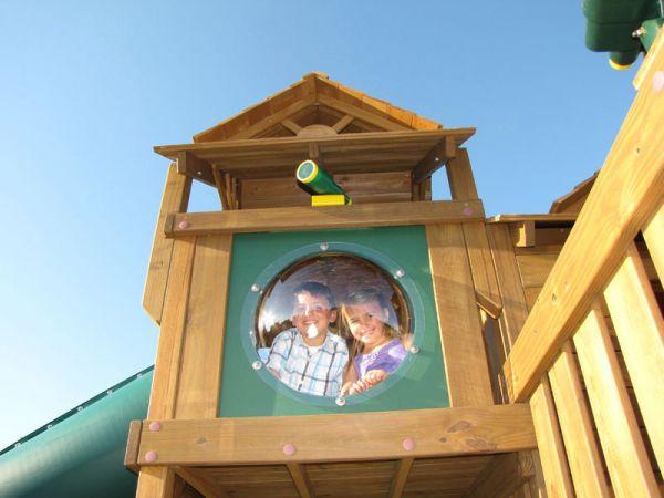 Creative Playthings Bubble Panel - shown on a Creative Playthings Skybox.