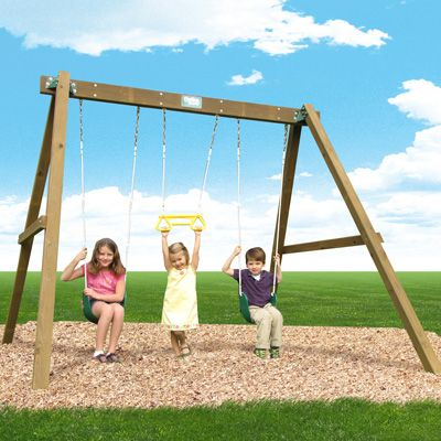 Playtime Deluxe Wooden Swing Frame