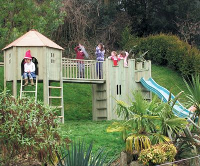 All Out Play Climbing Den and Gatehouse