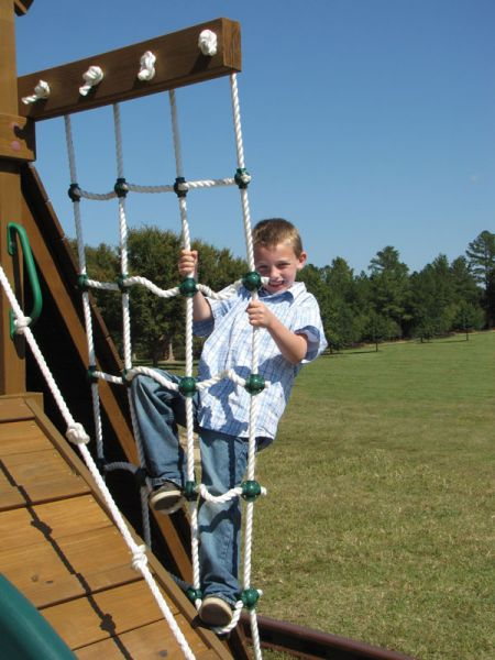 Deluxe rope ladder.