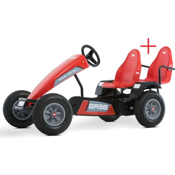 BERG Extra Sport E-BFR with FREE passenger seat red.