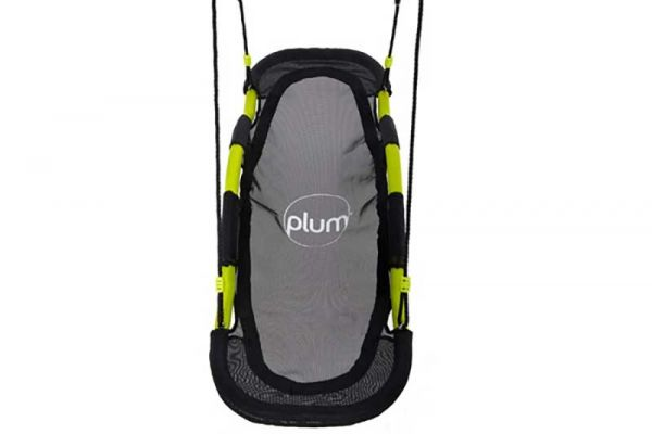 Plum Glide nest swing with padded seats removed.