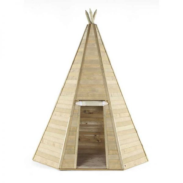 Plum Grand wooden Teepee 2.2m wide and 3.3m high.