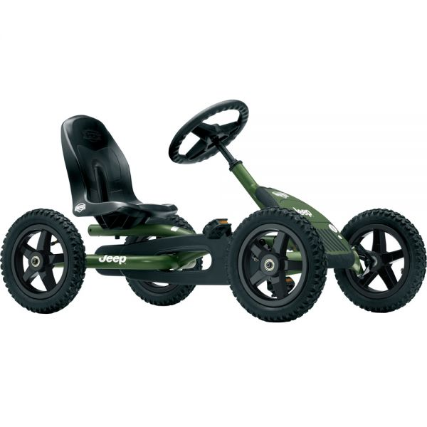 BERG Jeep Junior pedal go kart with brake free wheel and air tyres.