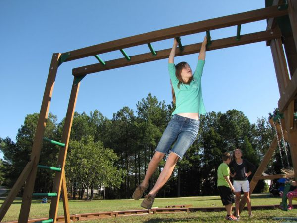 Creative Playthings monkey bars - needs a creative playthings tower for support.