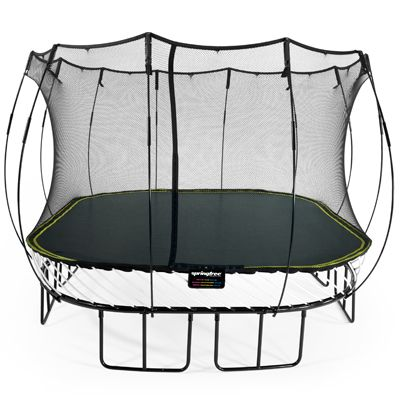 Springfree S113 the size of an 3.4m x 3.4m (11ft x 11ft) trampoline but the same jumping space as a 4.2M (14ft) round sprung trampoline.