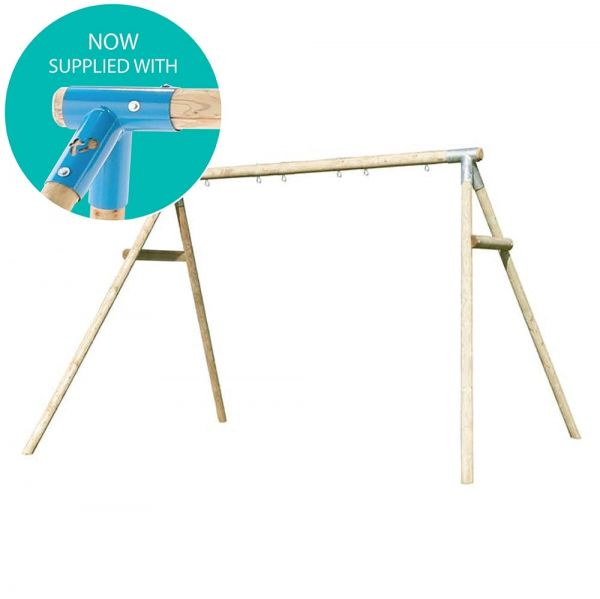 TP Knightswood Triple wooden swing frame - customise this frame with any of the TP swing seats or add your own.